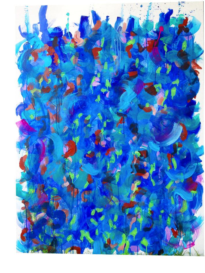 creative bleu fond blanc