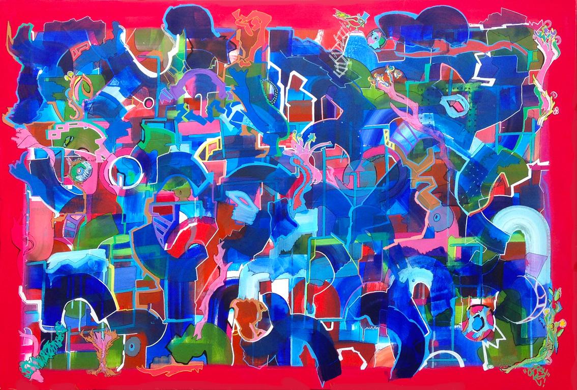 acrylique +  posca  130 x 100 cm  © FrdH Fran5oisdHUMIERES