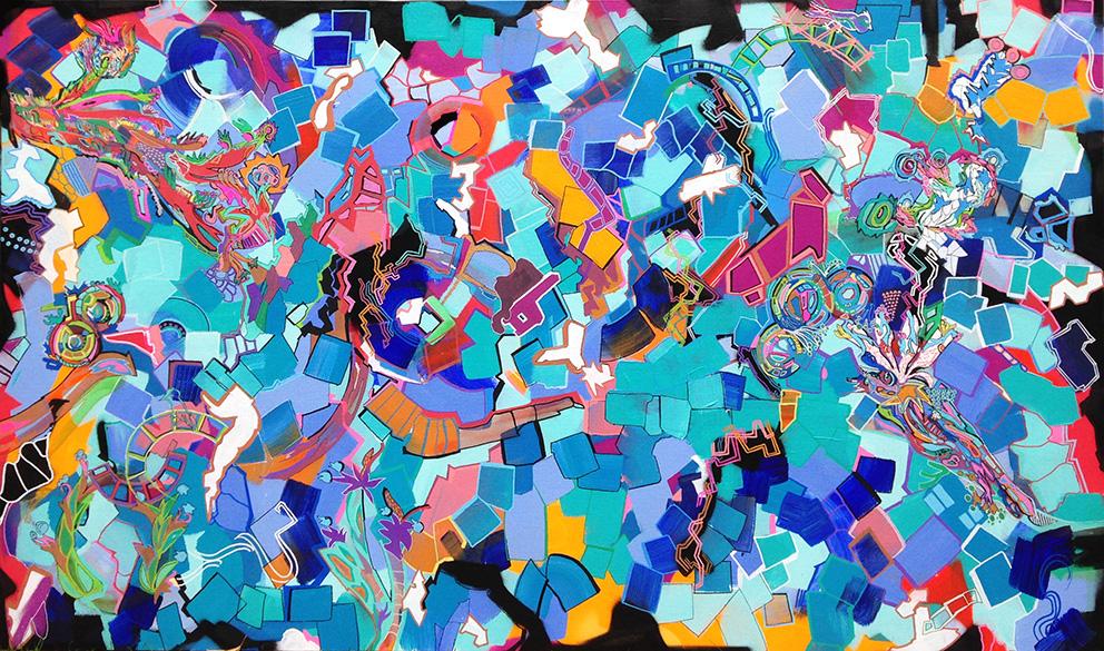 Acrylique - posca  FrdH © Fran5oisdHUMIERE5 - MASTER MIND 165X100